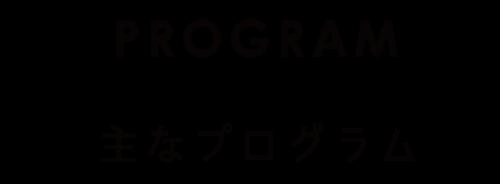 主なプログラム