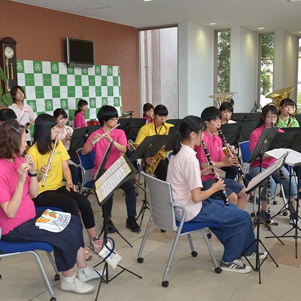 吹奏楽部によるミニコンサート